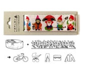 GNOME DWARF Gimmick Gift, Bike Ankle Leg Strap, Reflective Ribbon Safety Trouser Band, Bike Accessory, Kawaii Gift, Back to School