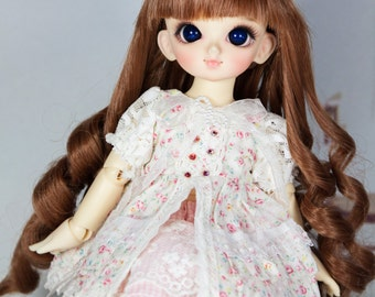bjd doll long curly wig for yosd rosenlied lati green (3 colors)
