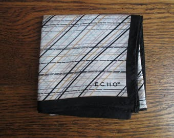 Vintage Echo Diagonal Stripes Scarf