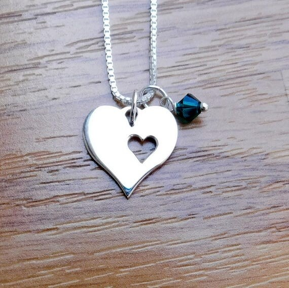 Sterling silver love necklace/earring set , heart jewelry, graduation, Valentine, heart necklace and earring combination