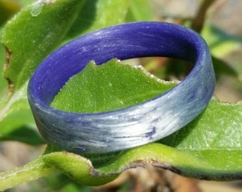 Texalium Silver Ring with purple inside