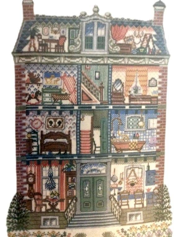 Doll's House Vintage Needlecraft Kit by Pako Handwerken of Holland, Counted Cross Stitch Kit