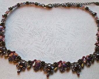 Sorrelli Floral Design Crystal and Rhinestone Necklace