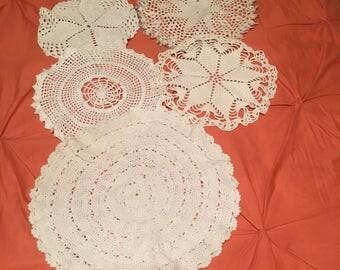 Vintage Doilies, Crochet Doilies, Bulk Lot