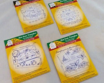 Vintage Aunt Martha Transfer Patterns, Iron On Transfer Patterns for Pillowcases and Linens