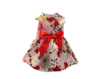 Dog Dress, Dog Clothing, Dog Wedding Dress, Pet Clothing, Dog Attire, Pet Dress - Garden Flowers