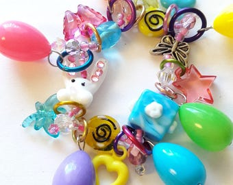 Little girl's Easter bracelet/Beadiebracelet