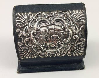 Stamp Box Sterling 5 Cherub Famous Motif Circa 1890