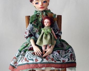 "Art doll, OOAK, Jointed doll , ""Elena"""