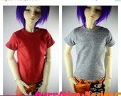 Sale 20% Off BJD SD 1/3 Doll clothing - Crew Neck Tee - Your Choice of 20 Colors