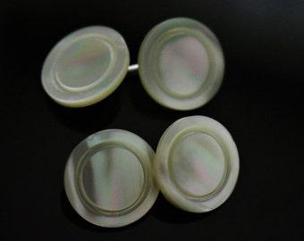 genuine vintage inner circle design mother of pearl centre cufflinks 12mm OR 14mm diameter