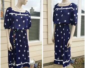 Vintage blue dress by Doncaster