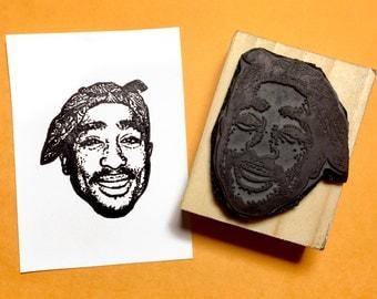 Tupac Shakur Rubber Stamp