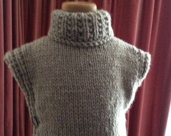 Poncho, pullover, child, adult, knitted, super chunky, 24 various colours . Made to Order.  FREE POSTAGE UK