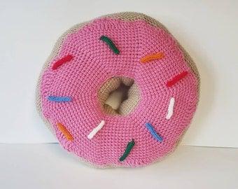 Decorative Donut Throw Pillow