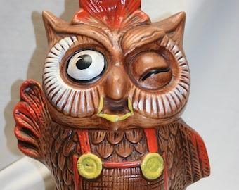 Vintage 1970s Owl Cookie Jar