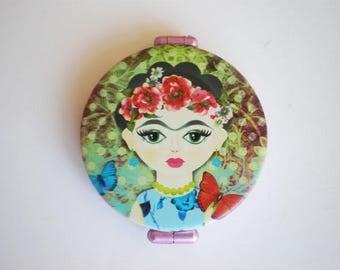 Pocket mirror,Frida Kahlo hand mirror, Pocket mirror art, Printed pocket mirror, Gift for her, Woman gift, Gift idea