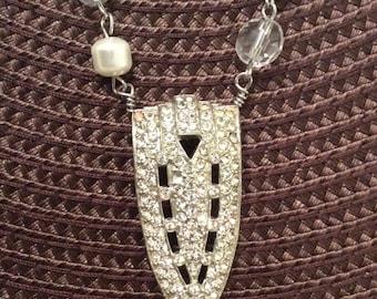 Delicate Vintage Shoe/Dress Clip Necklace