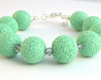 Polymer clay bracelet/ Polymer clay jewelry/ Polymer jewlery/ Polymer clay beads/ Pastel bracelet/ Green jewelry/ Gift for woman