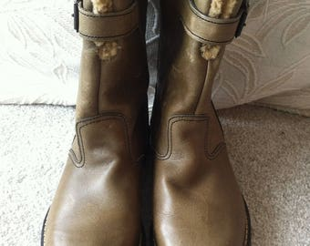 Vintage STEAD & SIMPSON  Mens Khaki Boots = Uk8 / EU42