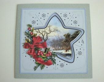 """3d christmas card """"winter scene"""""""