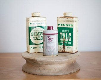 Vintage Shave Talc Tins - Sold as a Set