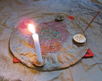 Celtic Spiral Portable Altar