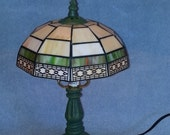 Stained Glass Lamp - Geometric Style