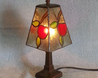 Stained Glass Lamp - Accent Lamp - Apple Theme