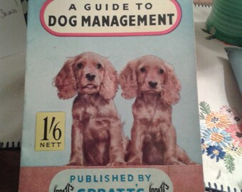 Dog Management by Spratts Vintage Book