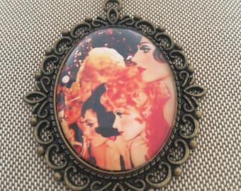 Vegas Showgirls Cameo Necklace