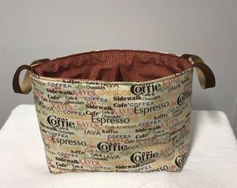 Fabric storage basket, Storage bin, Organization, Fabric caddy, diaper bin,Knitting basket
