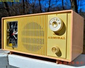 BLUETOOTH MP3 Ready - Pink And Cream Two Tone Mid Century Retro Admiral Tube AM Radio  Model Y3037A Works Great!