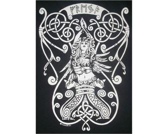 Freya Goddess Rune Viking T-Shirt WH