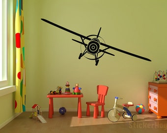 "Airplane Vinyl Wall Decal Graphics 50""x16"" Bedroom Decor"