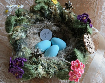 """Felted Nest """"Do You Suppose It's A Wildflower?"""" ~ Disney Themed Alice In Wonderland Nest  ..."""