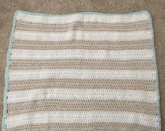 Knit Crochet Stripe Custom Baby Blanket