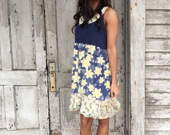 Kylee dress-medium large-artsy-Eco Clothing-Upcycled Clothing-Anthropologie inspired-by Love HIGHER Handmade Clothing
