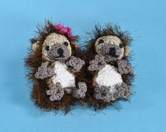hedgehog Jolanthe and Jonas crochet pattern