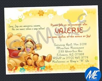 Winnie the Pooh Baby Shower Invitation - Printable