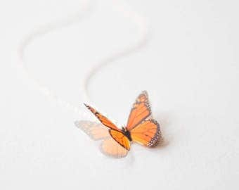 Butterfly Necklace, Gifts for Her, Bridesmaid Gift, Dainty Necklace, Monarch Butterfly