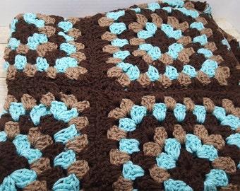 Lap Blanket, small afghan, crocheted throw