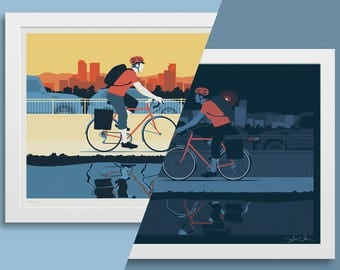 Bicycle Commuter Poster Bundle • 15% OFF!