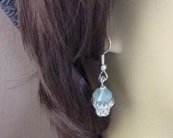 Small Dangle Earrings, Easter, Spring Swarovski Crystal