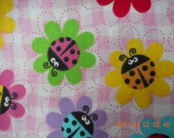 Ladybug Flower Pillowcase