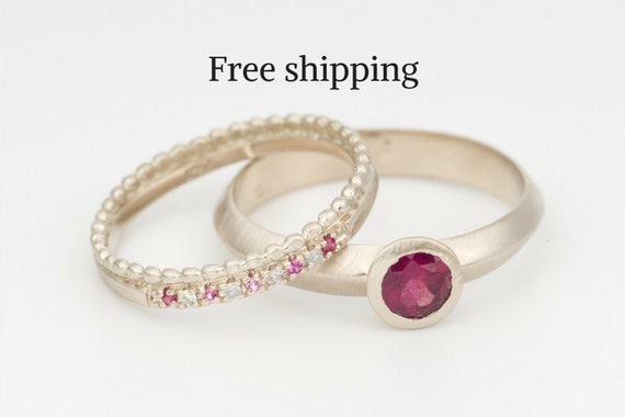Wedding Rings Bridal Ring Set Stack Wedding Rings Wedding Ring Set