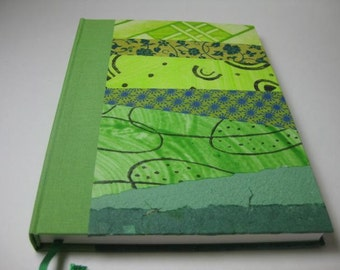 Voyage Book Travel Diary Scetchbook  Collage Handbound Journal