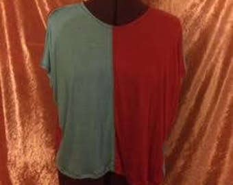 Gretchen Crop Top-Red/Mint