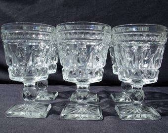colony glass park lane water goblets set of 6