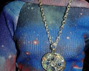 Ooak BJD Crystal Necklace.